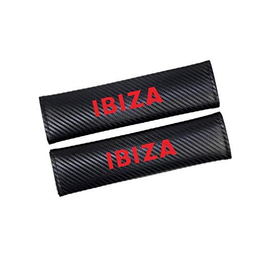 JKBDNB Para Seat Ibiza Cinturón De Seguridad De Coche Funda De Hombro Cinturón De Seguridad Funda De Hombro Almohadillas De Protección, Accesorios De Estilo De Coche 2 Piezas