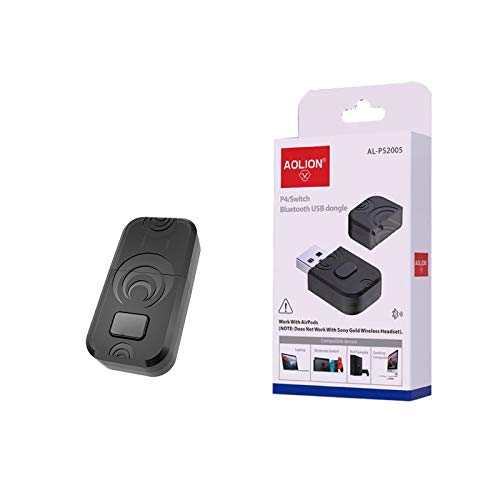 Transmisor de Audio Bluetooth PS5 Receptor Bluetooth Portátil Receptor Bluetooth para Ordenador Adaptador Bluetooth USB Compatible con PS5 Y PS4