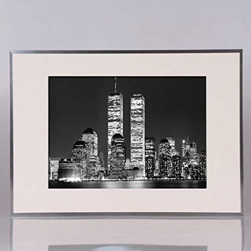 JPOYT-O Alurahmen Weltbild Bilderrahmen for 60x80 cm Bilder (Color : Silver, Size : 60x80cm)