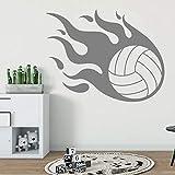 wZUN Meteor Voleibol Fiery Wall Sticker Sports Sticker Home Living Wall Art Decoration 68X52cm