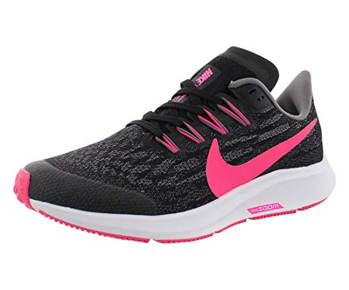 Nike Air Zoom Pegasus 36 (GS), Zapatillas de Atletismo Unisex niño, Multicolor (Black/Hyper Pink/Gunsmoke/White 62), 32 EU