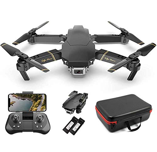 The Bigly Brothers E58 Pro X Edition 2.4G FPV Drone with Camera 2K HD Infrared Obstacle Avoidance, Remote Adjustable Camer, x10 Zoom, and Free Red-Carrying Case - w/Extra 1200mAh Battery
