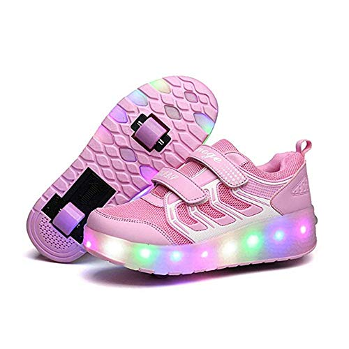 V-Do - Zapatillas de ruedas con luces para niñas, color Rosa, talla...