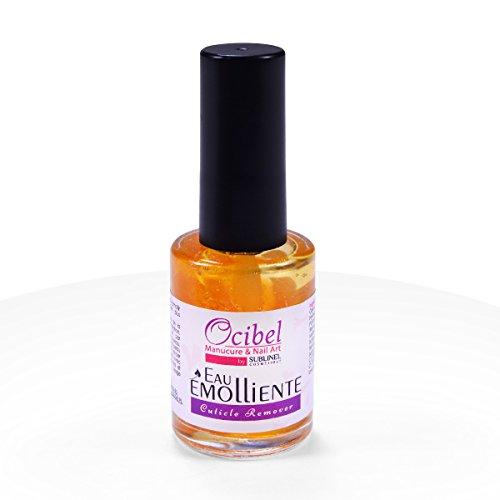 Ocibel - Eau émolliente/Cuticle remover Parfum Orange - 15 ml - Manucure, Faux Ongles et Nail Art