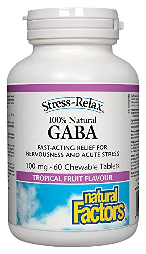 Stress-Relax Chewable Pharma GABA 100 mg by Natural Factors,...