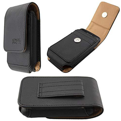 caseroxx Ledertasche mit Gürtelschlaufe für Dexcom G6 Receiver, Tasche (Ledertasche mit Gürtelschlaufe in schwarz)