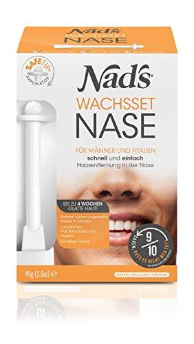 Nad\'s Nasenhaar Wachs Haarentfernung Set - Nasenwachs für Männer+Frauen, Sicher & Schmerzfrei