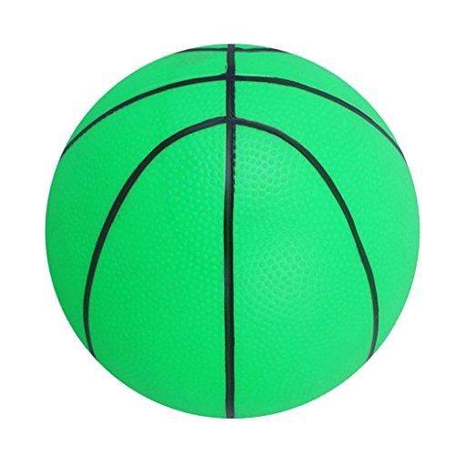 Ballon de Basket Gonflable Jouet d'Enfant Match Intérieures Extérieures Jeu de Sport Ballons - Vert