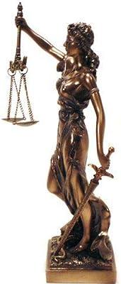 T-Trove Cold Cast Bronze Lady Justice La Justitia Statue Figurine