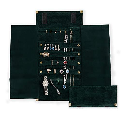 YHY - Bolsa organizadora de viaje de terciopelo ligero y pequeño para joyas, antideslustre, gran almacenamiento, multiusos para collares, pulseras, anillos, perlas y relojes, de YHY