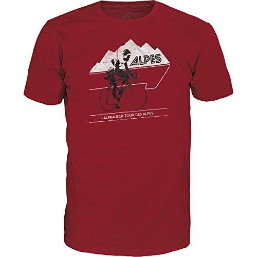 Alprausch Herren Tour des Alpes T-Shirt, Chilli Pepper