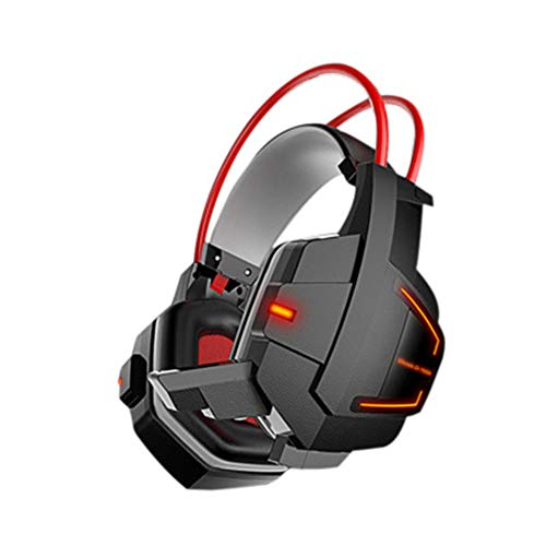 FMC Cuffie Stereo Doppia interfaccia ADSL Auricolare e-Sport LED PC Gaming Headset Potente Subwoofer USB