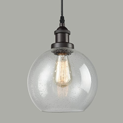 Dazhuan Industrial Vintage Bubble Glass Pendant Light Metal...