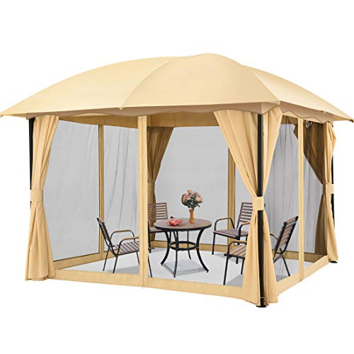 Quictent 12x12 ft Gazebo with Mosquito Netting and Sidewalls...