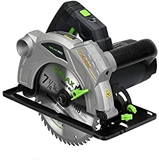 GALAX PRO 1500W 5500RPM Circular Saw, Electric Saw with Laser, 2 Blades(185mm), Adjustable Cutting Depth and Angle: 43mm (...