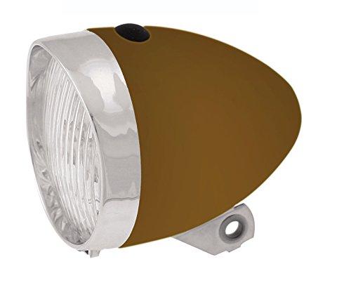 Luz Foco Frontal de 3 Led con Pilas incluidas para Bicicleta Retro Clasico Color Marron 3631