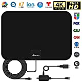 Amplified HD TV Antenna, Digital Indoor HDTV Antenna Up to 250 Mile...