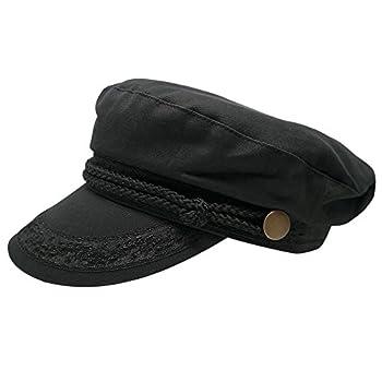Broner Hats Men s Greek Fisherman Cotton Twill Hat - Black  M Black