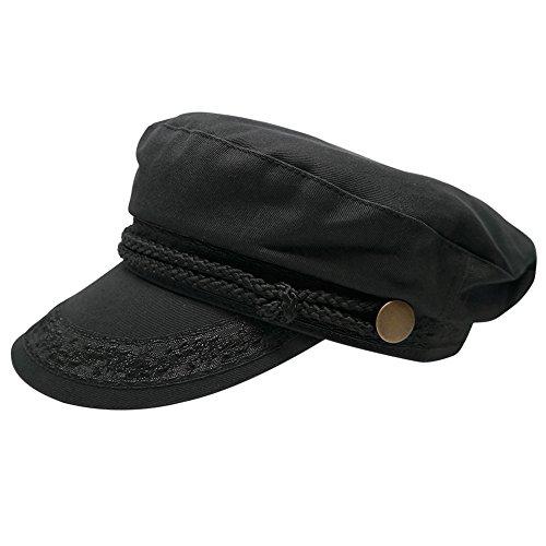 Broner Hats Men s Greek Fisherman Cotton Twill Hat - Black (M, Black)