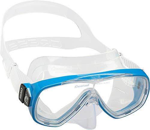 """TESTNOTE: \""""SEHR GUT\"""" - Innovative Premium Taucherbrille """"ONDA\"""" von CRESSI :: gehärtete Anti-Beschlag Gläser für kristallklare Sicht :: durchgehendes Glas ermöglicht größtmögliche Sicht :: extra breite Gummizone garantiert maximalen Komfort :: 100{8599406e95015c9273363cfd9356564f57cf2d2acaea14c866a0c2c147bff926} wasserdicht :: Komfort-Gummiband für perfekten Sitz :: exklusives Design :: auch für Kinder und Jugendliche geeignet :: inklusive 3 Jahren CRESSI Produktgarantie"""