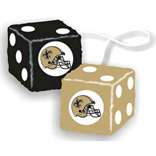 Fremont Die NFL New Orleans Saints 3' Fuzzy Dice, 3', Team Colors