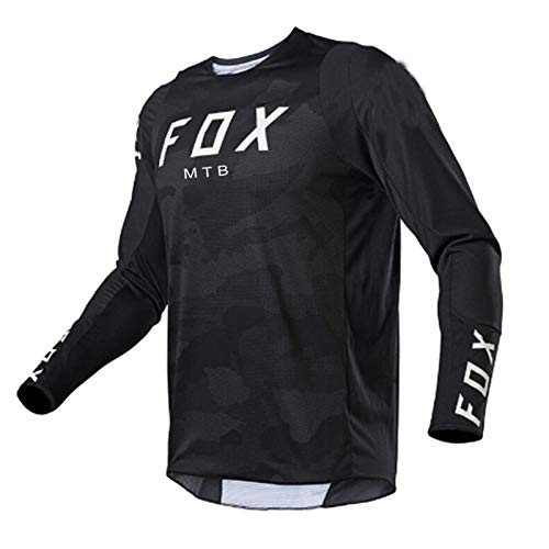 Yutich Herren Downhill Trikots Hpit Fox Mountainbike MTB Shirts Offroad DH Motorrad Trikot Motocross Sportwear BekleidungBike-L