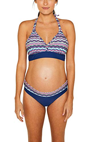 ESPRIT Maternity Damen Bikini top Umstandsbikini, Mehrfarbig (Dark Blue 405), 80C (Herstellergröße: M/L)