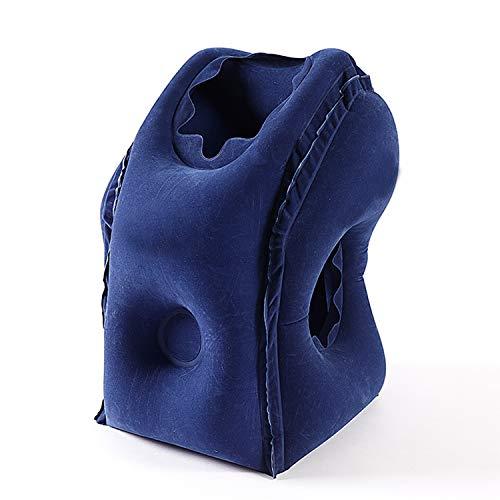 Xch Travel Pillow Inflatable Pillow Cómoda Almohada para Dormir con,Blue
