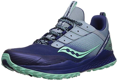 Saucony Women's MAD River TR Road Running Shoe, Blue/Navy, 8 M US