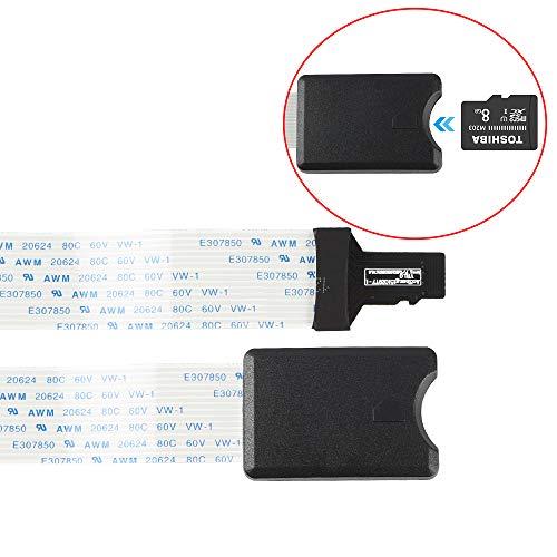 BCZAMD Micro SD/TF zu TF/Micro SD Karten Verlängerungskabel Adapter Flexibler Extender für Druckerteile Monoprice Select Mini/Anet A8 CR-10 Ender 3 /Raspberry Pi/GPS/TV, 48 CM /18,89 Zoll