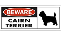BEWARE CAIRN TERRIER ワイドマグネットサイン:ケアーンテリア Mサイズ