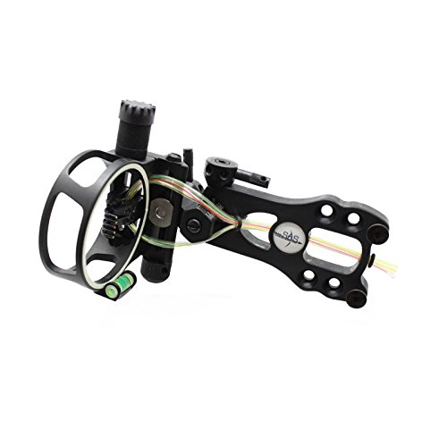 Southland Archery Supply SAS 5 Pins .019 Fiber Optic Bow Sight with Micro Adjustments and LED Light (Black)