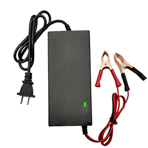 KOIJWWF Cargador de Scooter eléctrico, 8A Power Adapte, el Voltaje de Salida es de 12.6V Carga de batería de Litio, Carga rápida, protección sobre sobretensión,A