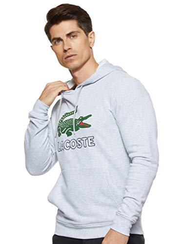 Lacoste Herren Sh6342 Sweatshirt, Grau (Argent Chiné Cca), Large (Herstellergröße: 5)