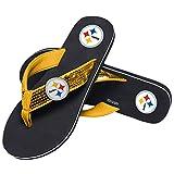 Pittsburgh Steelers NFL Womens Sequin Flip Flops - M
