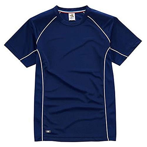 T-shirt met korte mouwen met reclame van sneldrogend polyester voor de zomer.