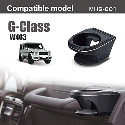 AZUTO Cup Holder for Mercedes-Benz G Class G-Wagen W463, Custom Fit and Finish, Designed and Assembled in Japan, MHG-001
