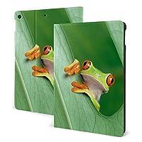 Ipad Air3 2019ケース/Ipad Pro 10.5 ケース カエル 緑の葉 高級puレザー 極薄 超軽量 オートスリープ機能 スマートカバー 耐摩擦 傷つけ防止 耐久 全面保護型 手帳型 脱着式 おしゃれ 女性 男性 人気 通用