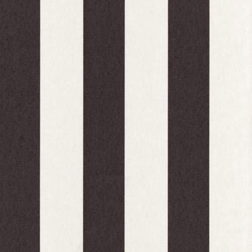 Caselio 60399005 Papel pintado de rayas en tonos blanco roto y brillo metalizado antracita
