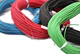 Unique India Combo of Red 5 m, Green 5 m, Blue 5 m and Black 5 m Electric Wire, Model Building Tools for Working Models, DIY Science Experiment Kit