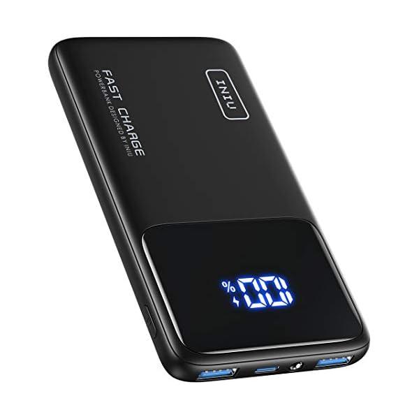 INIU Portable Charger, 18W PD 3.0 QC 4.0 Fast Charge 10500mAh USB C LED Display Power...