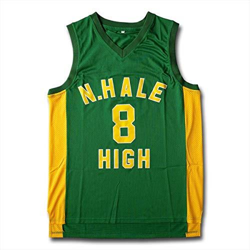 ZEH 8 N.Hale - Camiseta de baloncesto para hombre (talla XXXL), color verde