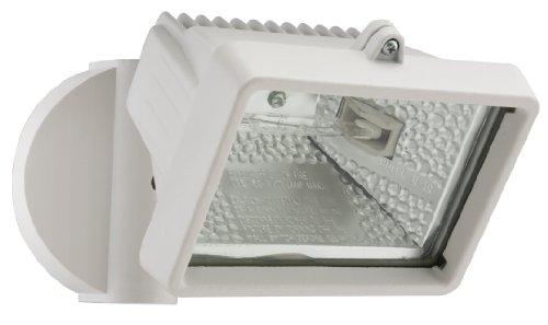 Lithonia Lighting OFLM 150Q 120 LP WH M12 A Mini Single-Head Flood Light 150-Watt Double Ended Quartz Halogen Lamp