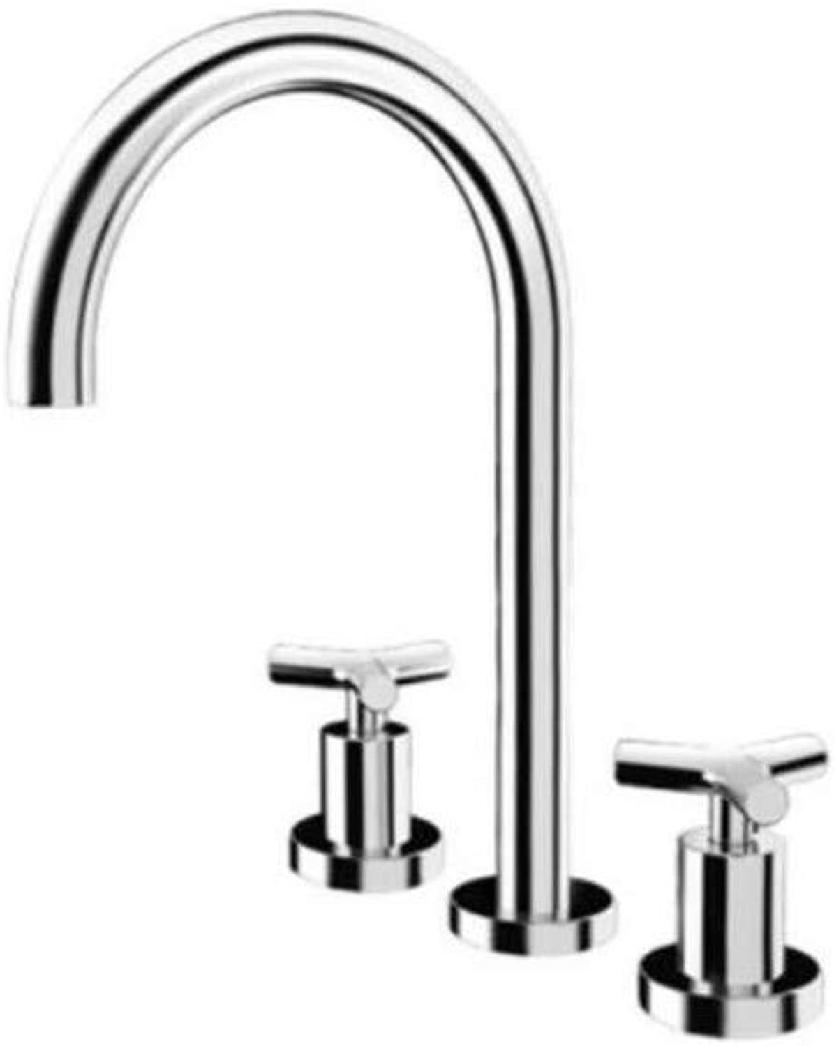 Taps Kitchen Sinktaps Mixer Swivel Faucet Sink Double-Handled Cold-Hot Rust-Proof Universal Bathroom with Large Amount