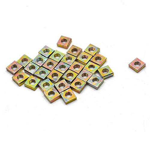 Antrader 30pcs Zinc Plated M3 Square Nuts