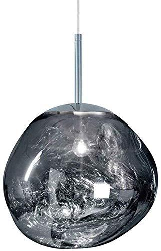 Postmoderne Melt Kronleuchter Glas Lava unregelmäßige hängende Lampe Wohnzimmer Schlafzimmer Restaurant Home für moderne D25 / 40CM Silber Gold Kupfer Spiegel Decke Pendelleuchte