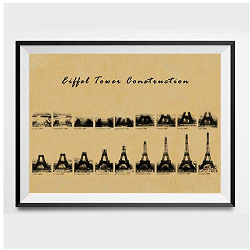 Terilizi Parijs Eiffe Tower drukbare shabby chic vintage canvas schilderij muur kunst decor architectuur geschenken industriële afdrukken schilderij 30 * 40cm zonder lijst