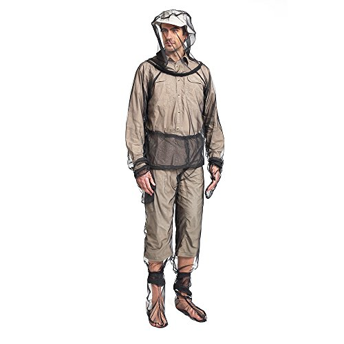 Lixada Mosquito Repellent Suit Bug with Bug Jacket Hood,Pants Net,Leg Gaiter,Gloves and Storage Sack,Protective Whole Body Repellent Bug Jacket for Outdoor Camping Gardening Fishing