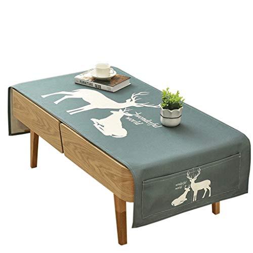 Woonkamer-tafelkleed van katoen-linnen, rechthoekig, stof, modern, eenvoudig, salontafel, tapijt, stof