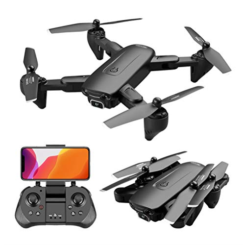 WXFXBKJ HD GPS Drones,4K WiFi HD Dual Wide Angle Camera Drones Four-Axis Helicopter 5G GPS Positioning RC Drone FPV Professional Quadcopter (Color : 1080P Dual 1B)
